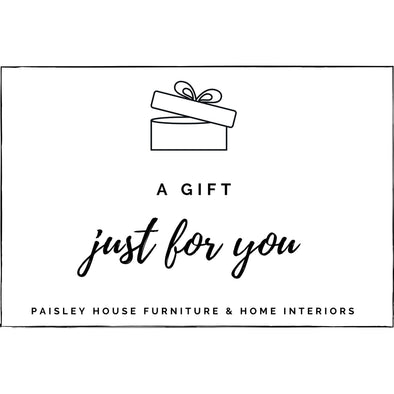 Paisley House Furniture & Home Interiors Gift Card