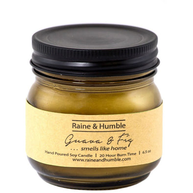 Raine & Humble Scented Candle  w/ Gift Bag - Guava & Fig