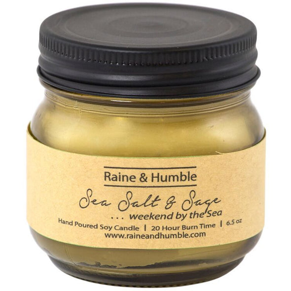 Raine & Humble Scented Candle  w/ Gift Bag - Sea Salt & Sage