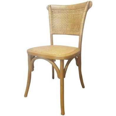 Rattan Weave Oak Dining Chair