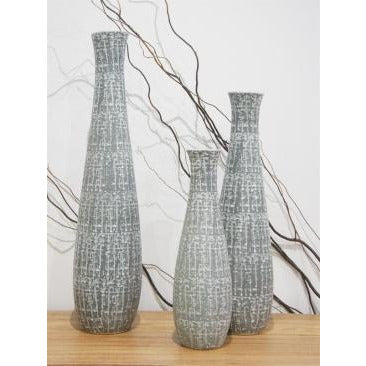 Lulu Ceramic Vase Grey & White