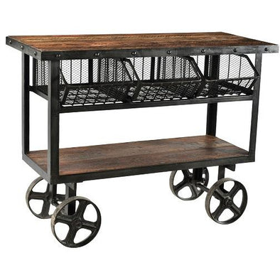 Wood & Iron Industrial Trolly
