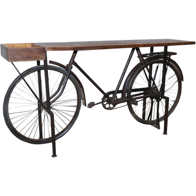 Vintage Bicycle Wooden Top Hall Table