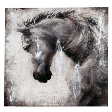 Wall Canvas Black Foil Horse Portrait