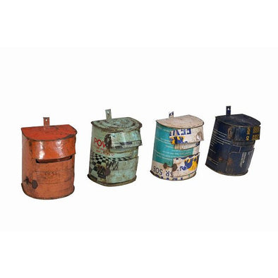 Recycled Iron Mail Box- Assorted Colours