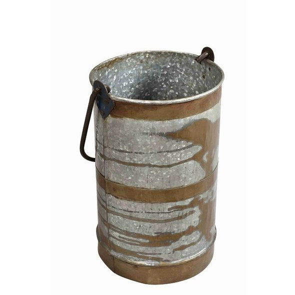 Tall iron Bucket/Planter with Handle