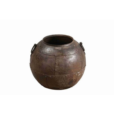 Rustic Iron Water Pot with Handles