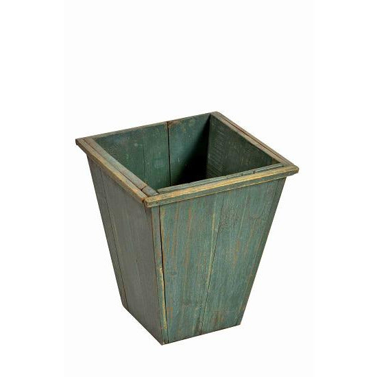 Wooden Square Tapered Planter- Teal