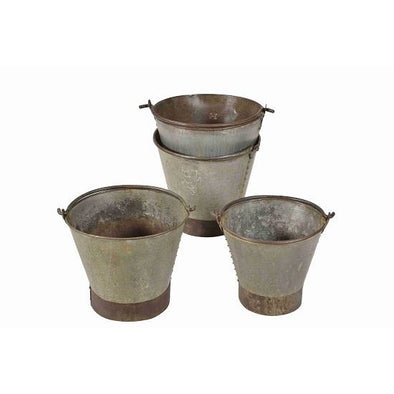 Original Iron Bucket with Large Handle