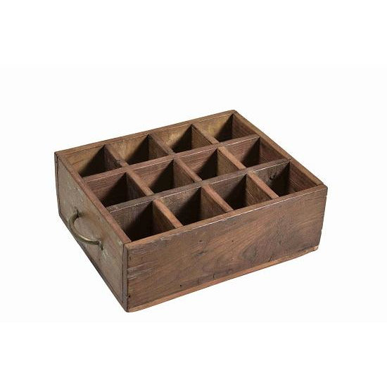 Wooden 12 Compartment Tray with Handles