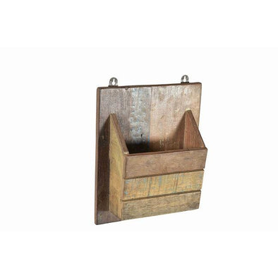 Wooden Single Wall Hanging Pocket.