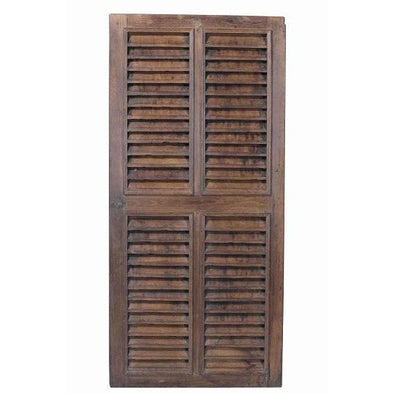 Original Teak Wood Window Shutter