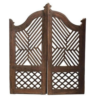 Original Teak Wooden Dog/Garden Gates