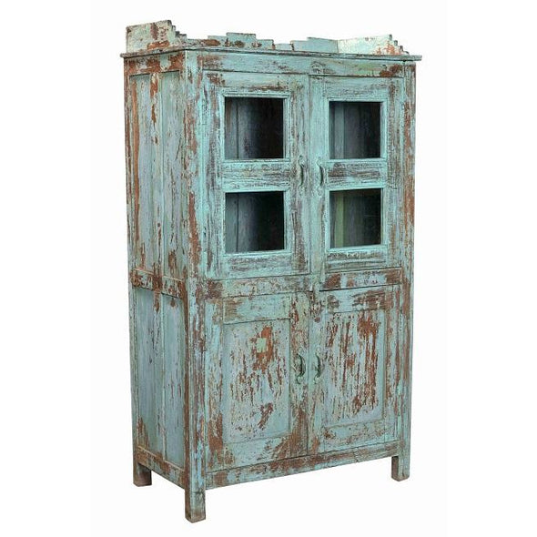 Vintage Kitchen Cupboard-Antique Blue