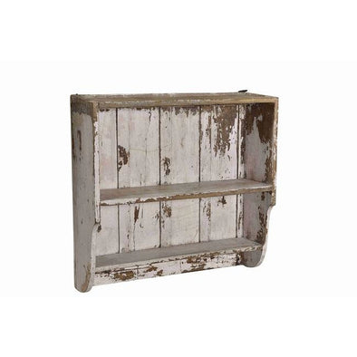 Original Distressed Wall Shelves- Antique White