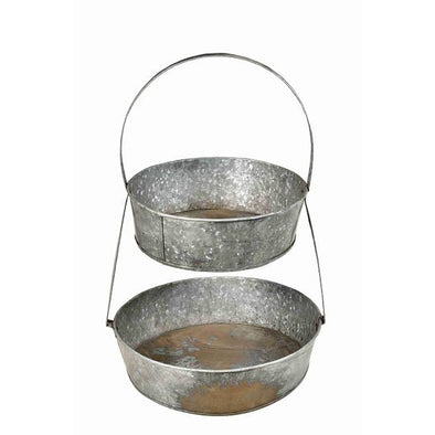 Round Tiered Tray with Handle
