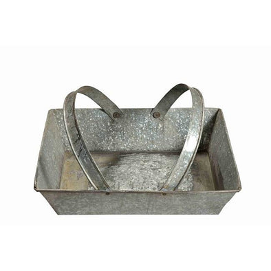 Galvanized Tray/Basket with Handles
