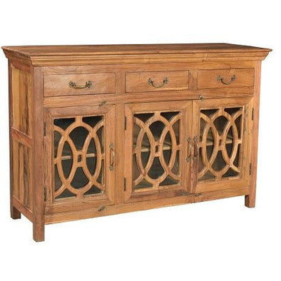 Teak Wood 3 Door 3 Drawer Sideboard