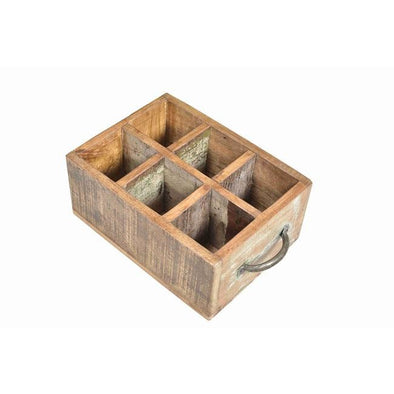 6 Slot Bottle Crate with Handles
