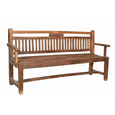 Large Teak Outdoor Park Bench