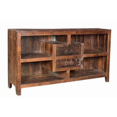 Sideboard With Open Shelves & 2 Drawers