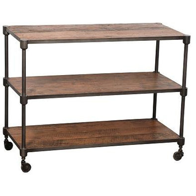 Industrial 3 Tier Shelves w/Wheels