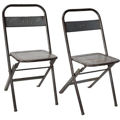 Original Folding Iron Chair