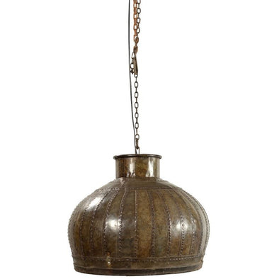 Large Industrial Iron Hanging Lamp with Chain