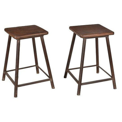 Small Wood & Iron Stool