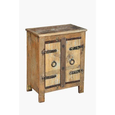 Iron & Wood 2 Door Side Table/Cabinet