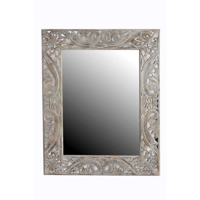 Cutout Carved Mirror