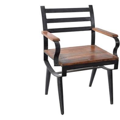Retro Iron & Wood Armchair