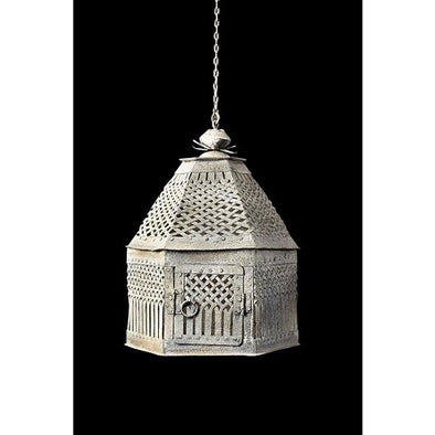 Bird Cage Hanging Lamp Shade-Rustic White