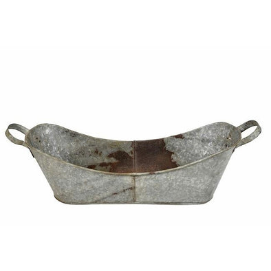 Iron Tub With Handles- Galvanized Iron