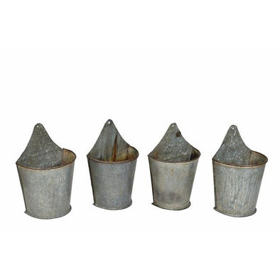Wall Hanging Planter- Galvanized Iron
