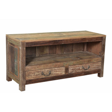 Rustic Small 2 Drawer Entertainment Unit