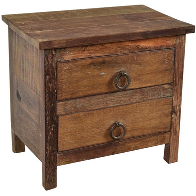 Small 2 Drawer Side Table - Natural