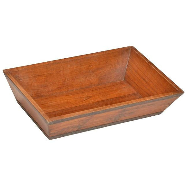 Teak Wooden Tray with Iron Detail