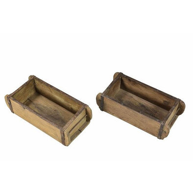 Original Teak Brick Mould Planter