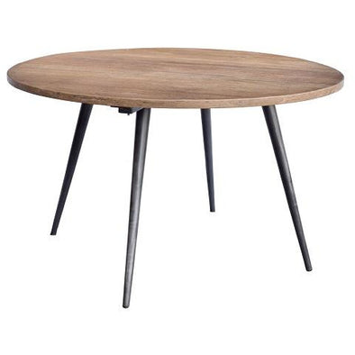 Round Wood & Iron Retro Style Dining Table