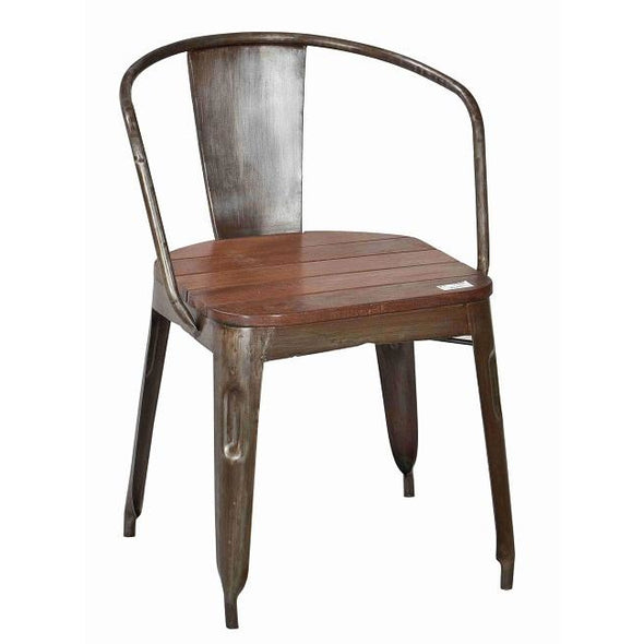 Wood and Iron Carver Dining Chair