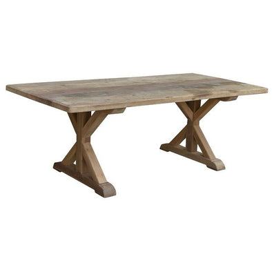 Large Wooden Teak Rectangle Dining Table
