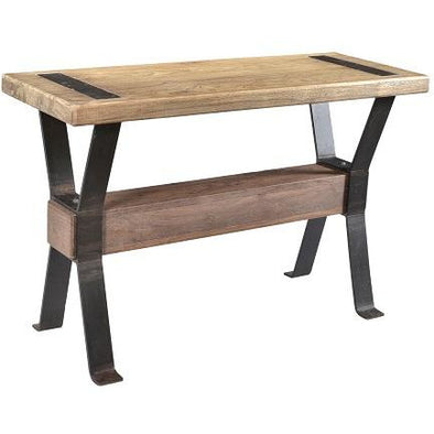 Xross Collection Wood & Iron Hall Table