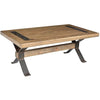 Xross Collection Wood & Iron Coffee Table
