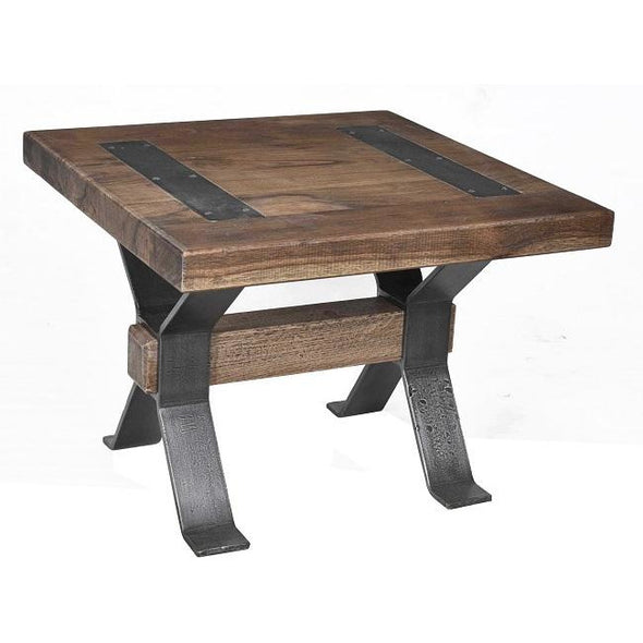 Xross Collection Wood & Iron Side Table