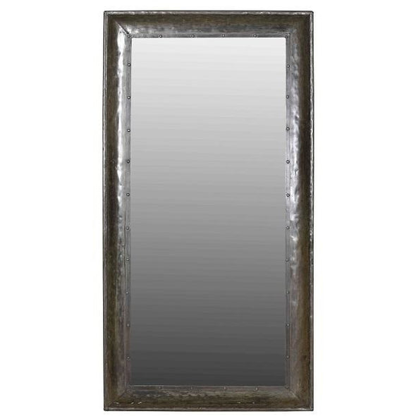 Recycled Iron Frame Rectangular Mirror- Black