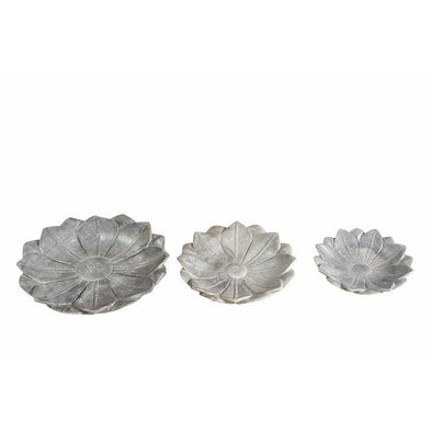 Marble Flower Plate- 3 sizes