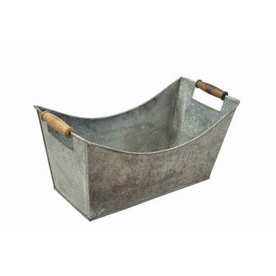 Curved Iron Caddy W/ Wooden Handles