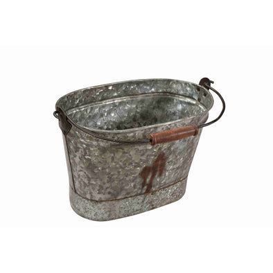 Iron Oval Tub with Handle