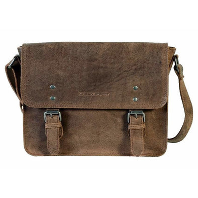 Apache Small Leather Satchel Bag - Tobacco